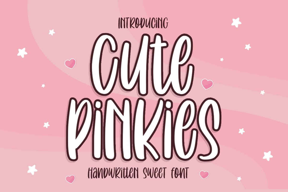 Cute Pinkies | Quirky Font example image 1