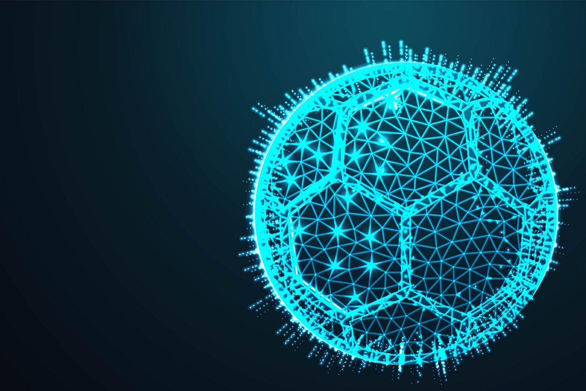 ball, football sport,Abstract 3d polygonal wireframe airplan example image 1