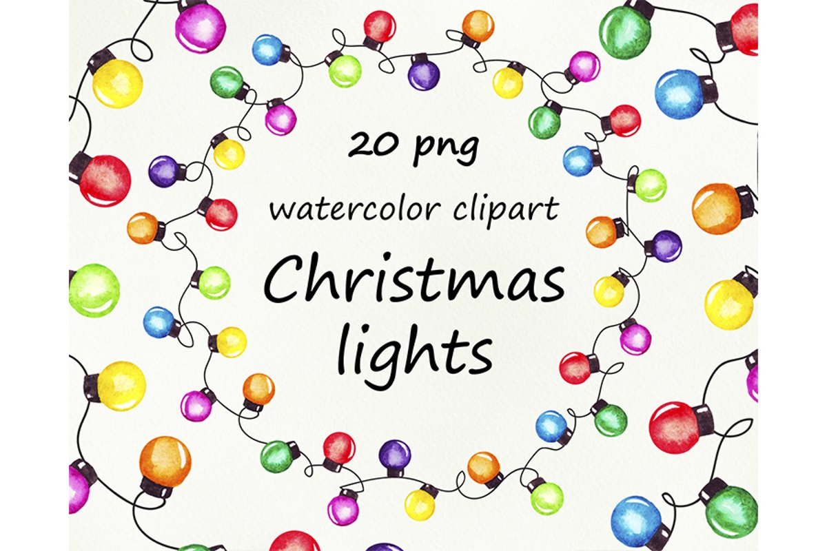 String of Christmas lights clipart, border, frame png example image 1