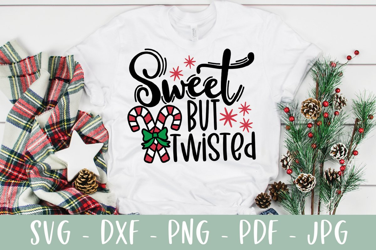 Sweet But Twisted SVG - Funny Christmas SVG example image 1