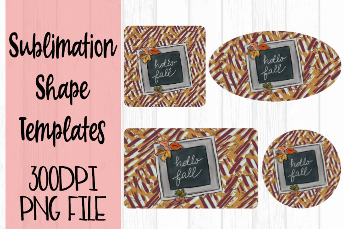 Hello Fall Sublimation Templates example image 1