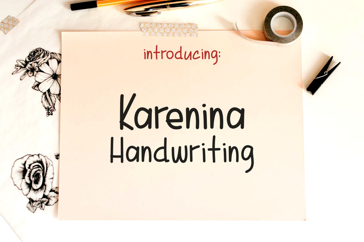 Karenina Handwriting example image 1