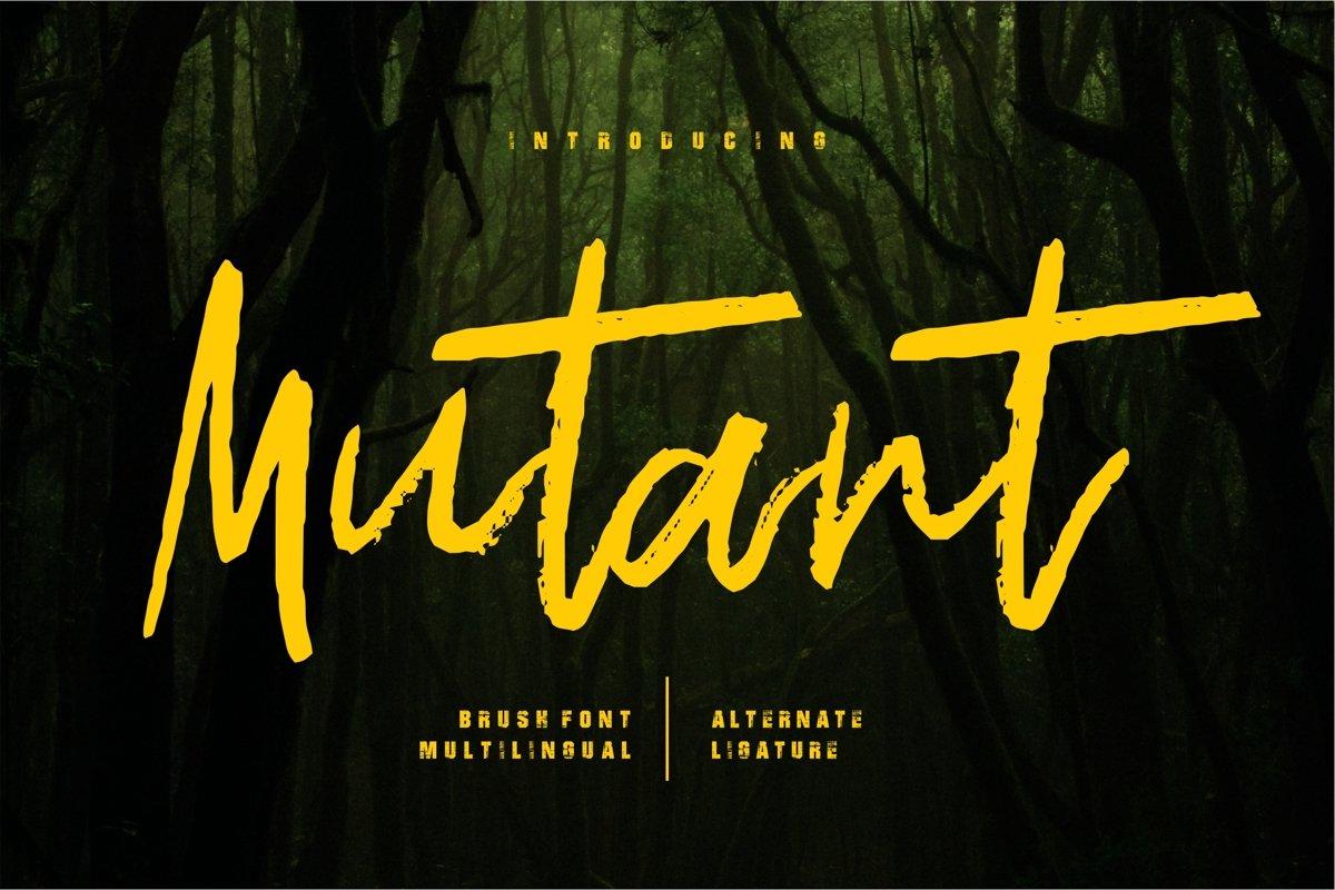 Mutant - Brush Font example image 1