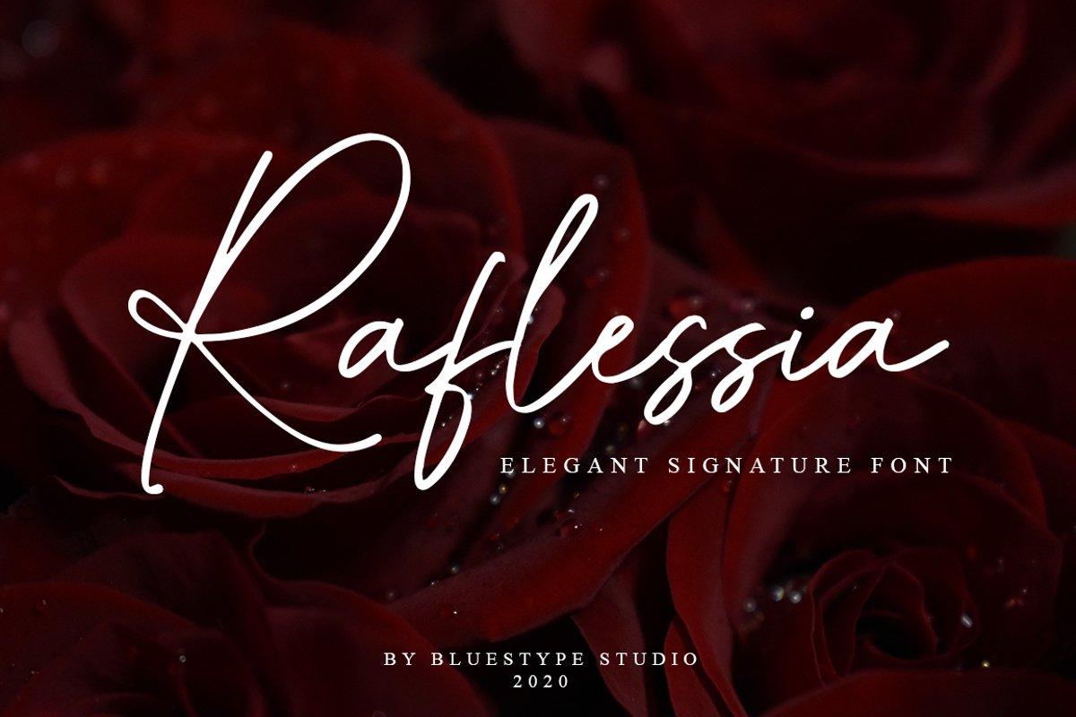 Raflessia - Elegant Signature Font example image 1
