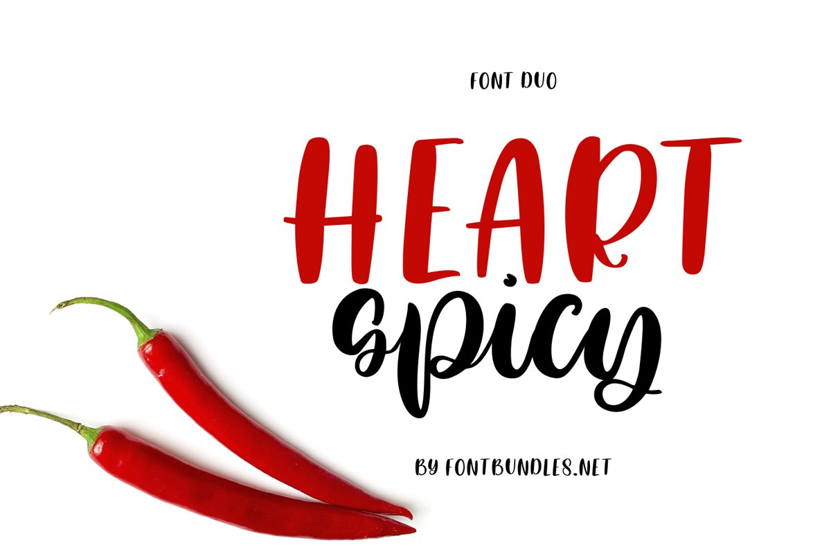 Heart Spicy Font Duo example image 1
