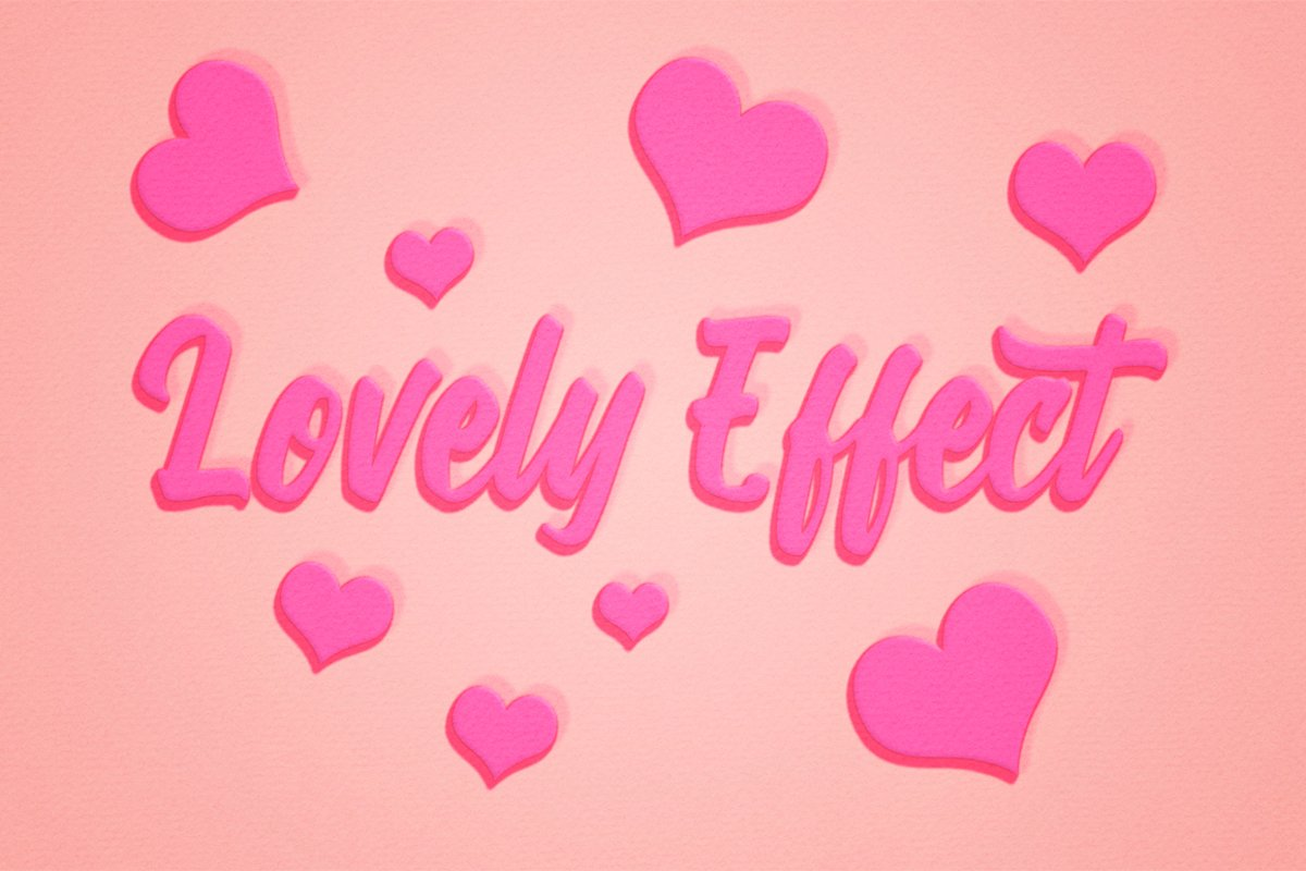 Lovely Text Effect for Photoshop example image 1