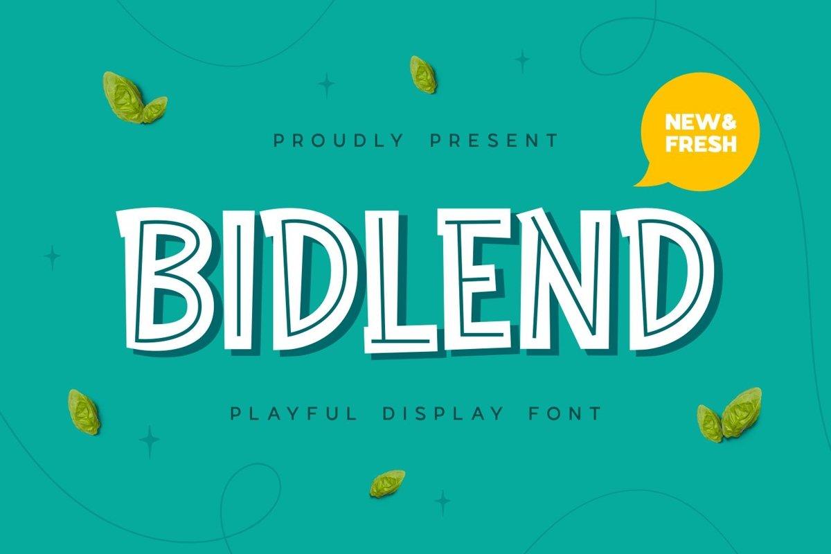 Bidlend - Playful Display Font example image 1
