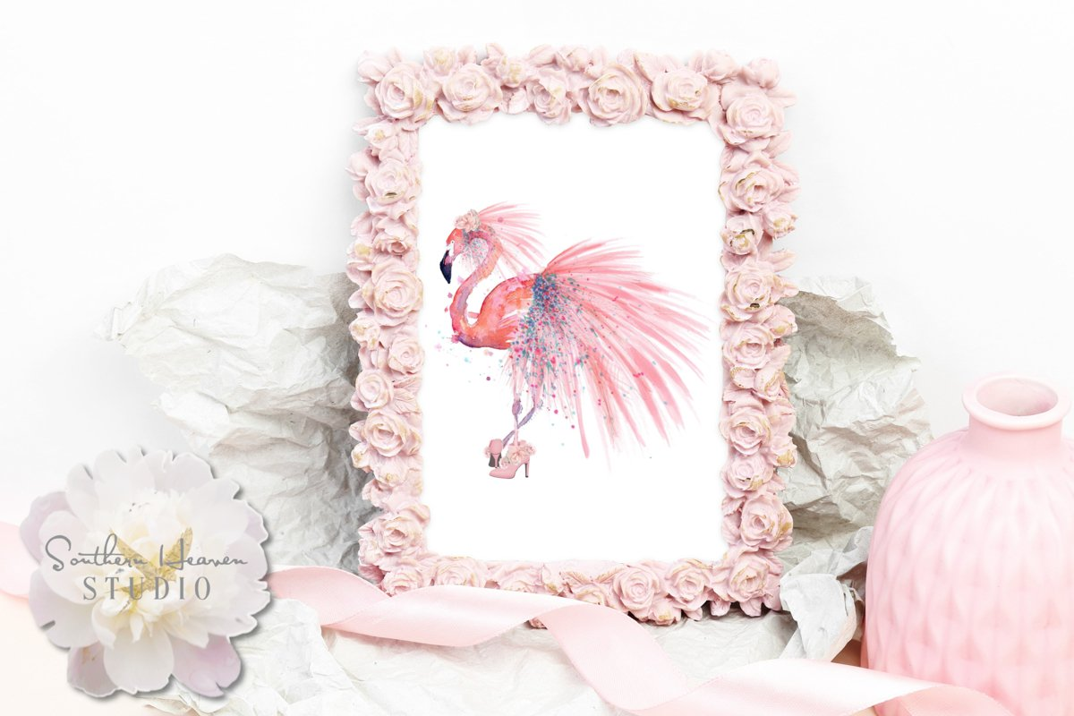FLAMINGO BRIDE - PNG example image 1