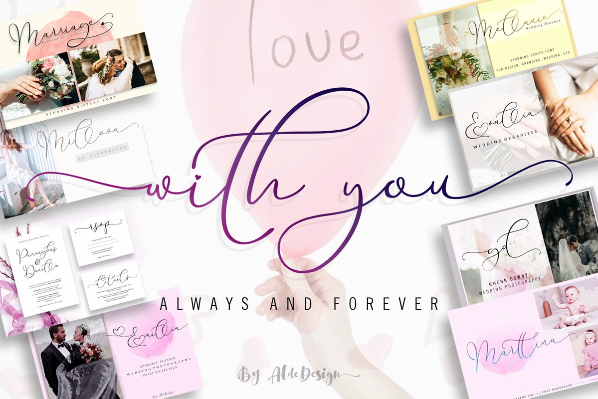 With You // Lovely Script Font example image 1