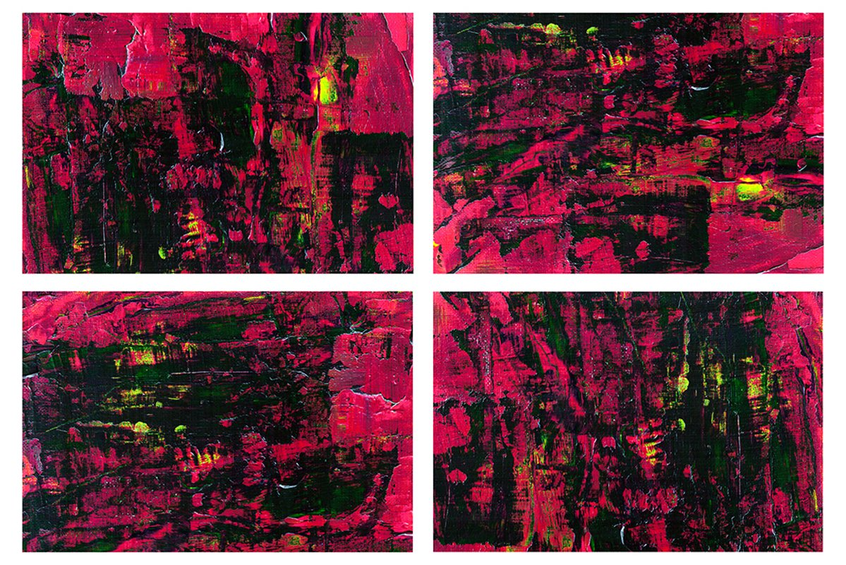 Set of 4 images. Abstract art background. Acrylic painting example image 1