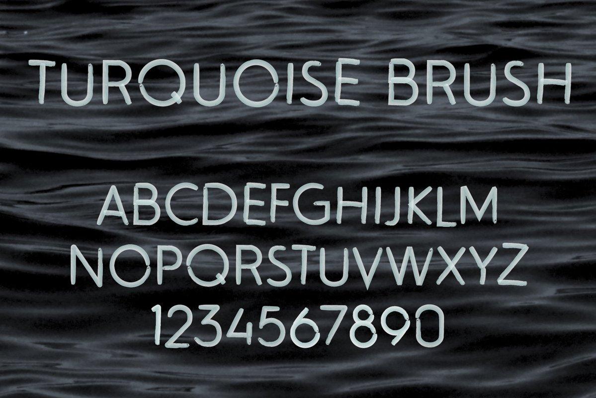 Turquoise Brush SVG Font example image 1