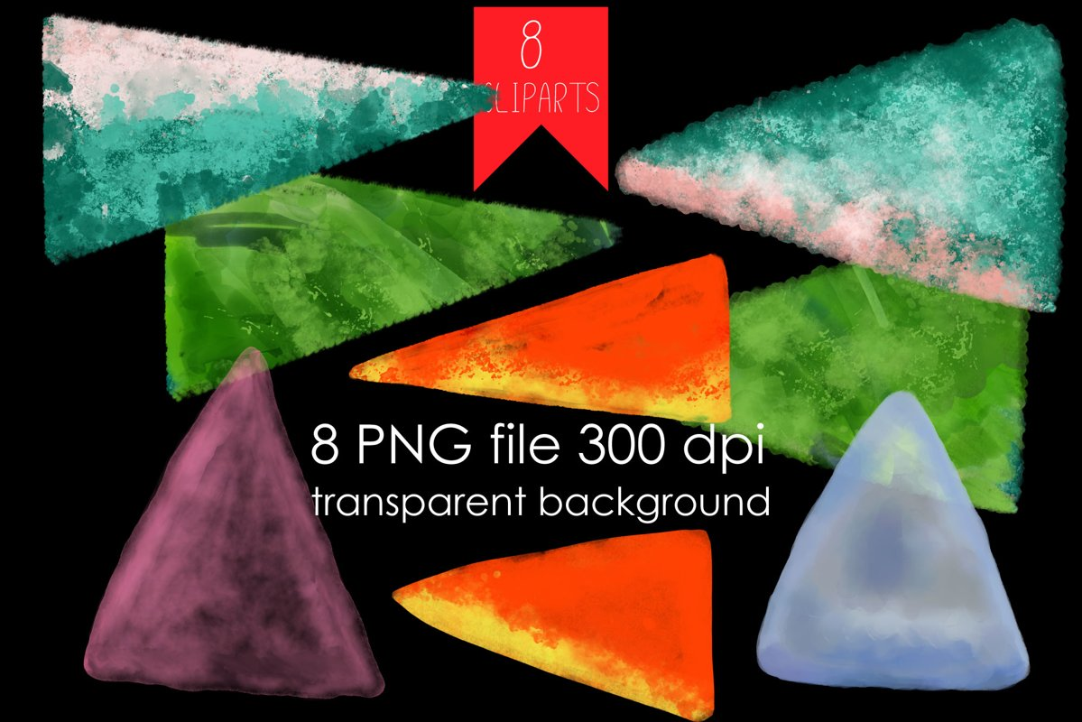Geometric forms watercolor PNG Clipart example image 1