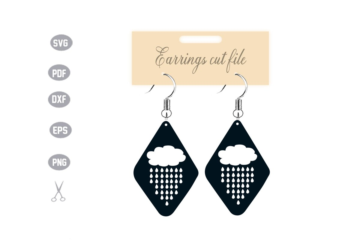 Earrings Template SVG example image 1