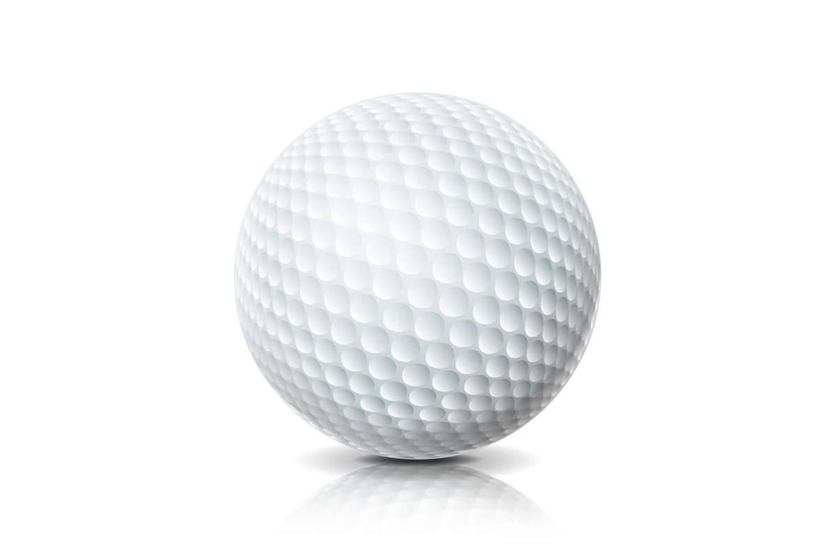 Realistic Golf Ball Isolated On White Background. example image 1
