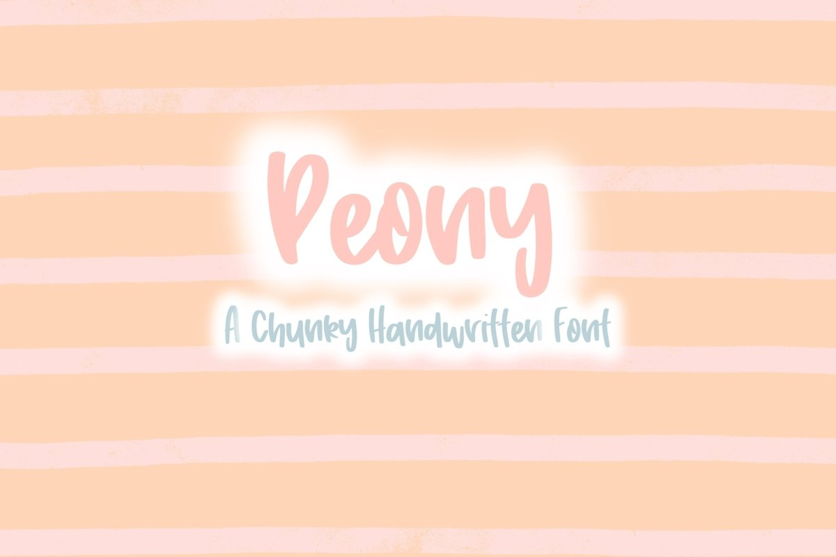 Peony | Quirky Hand Written Font example image 1