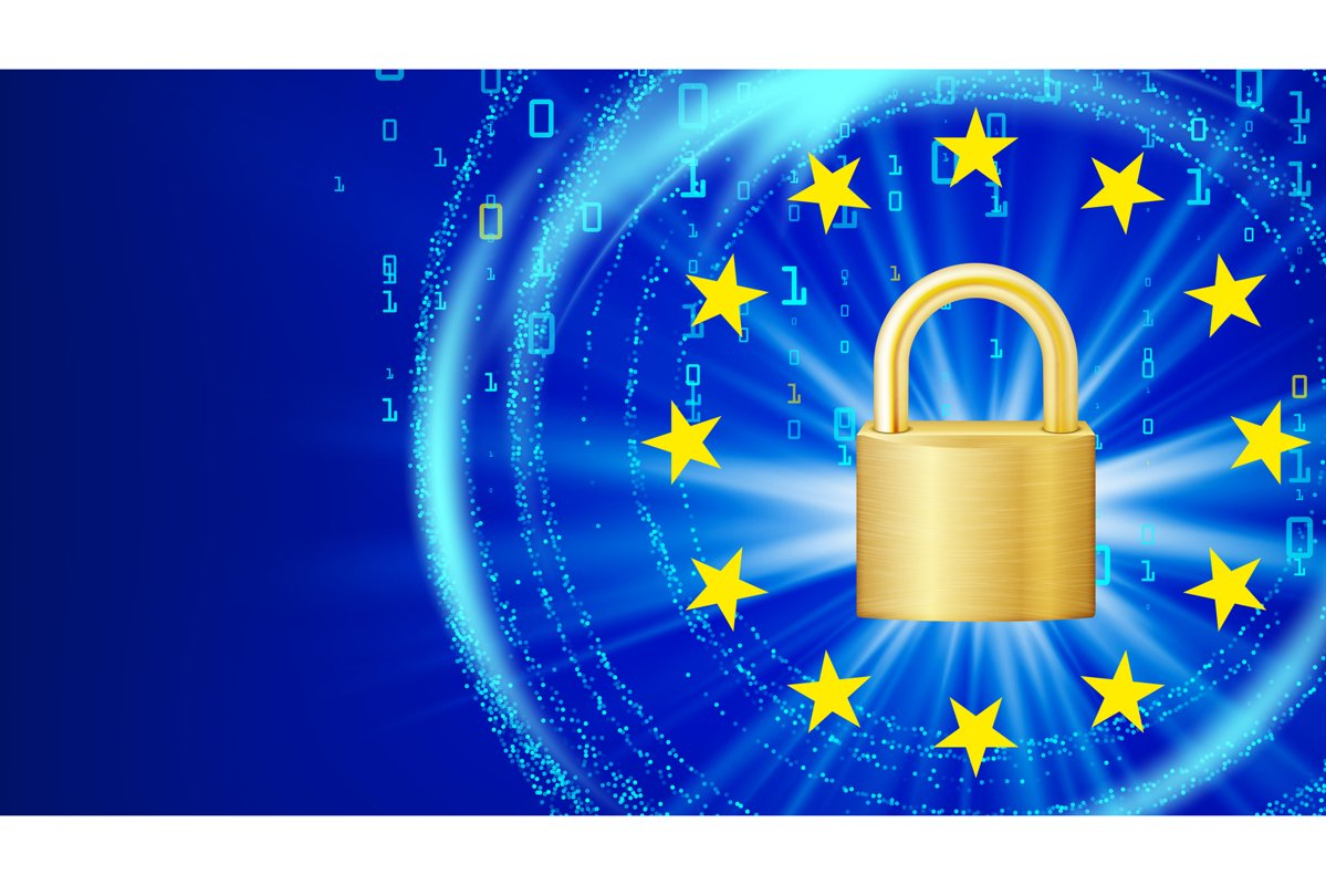GDPR Background Vector. Padlock. General Data Protection example image 1