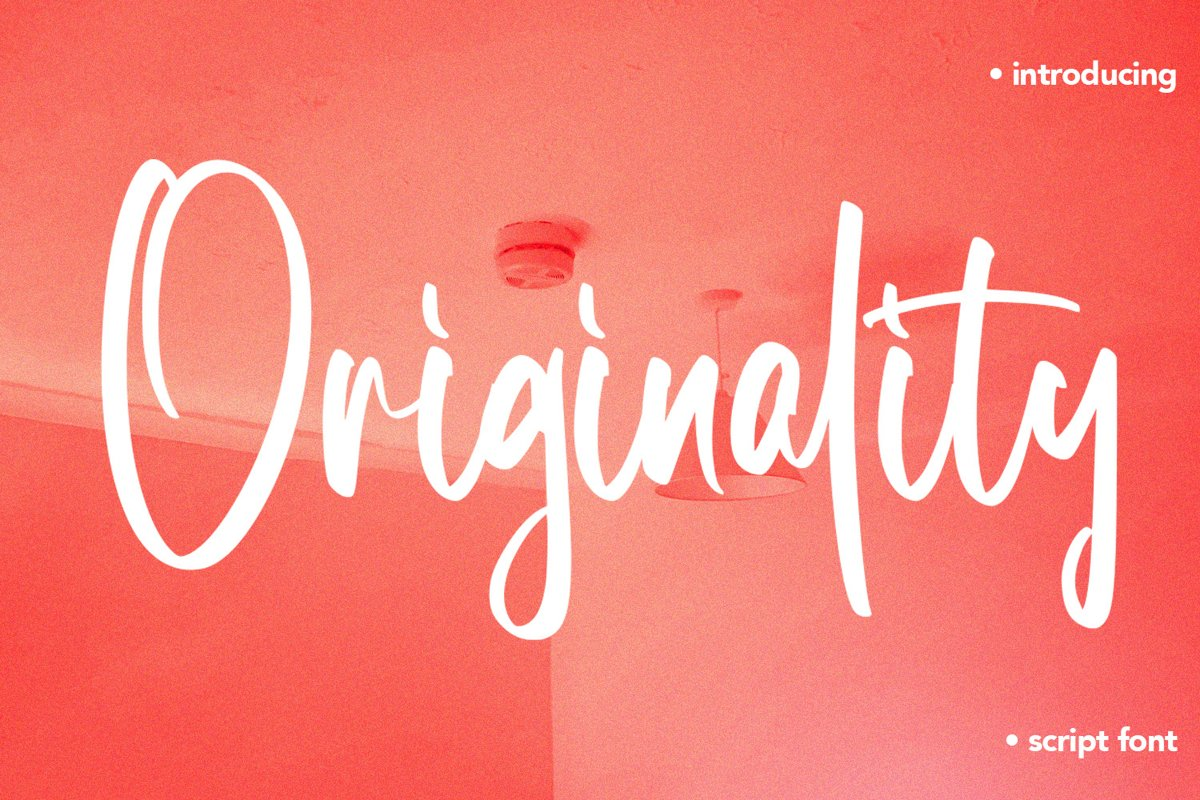 Originality - Script Font example image 1