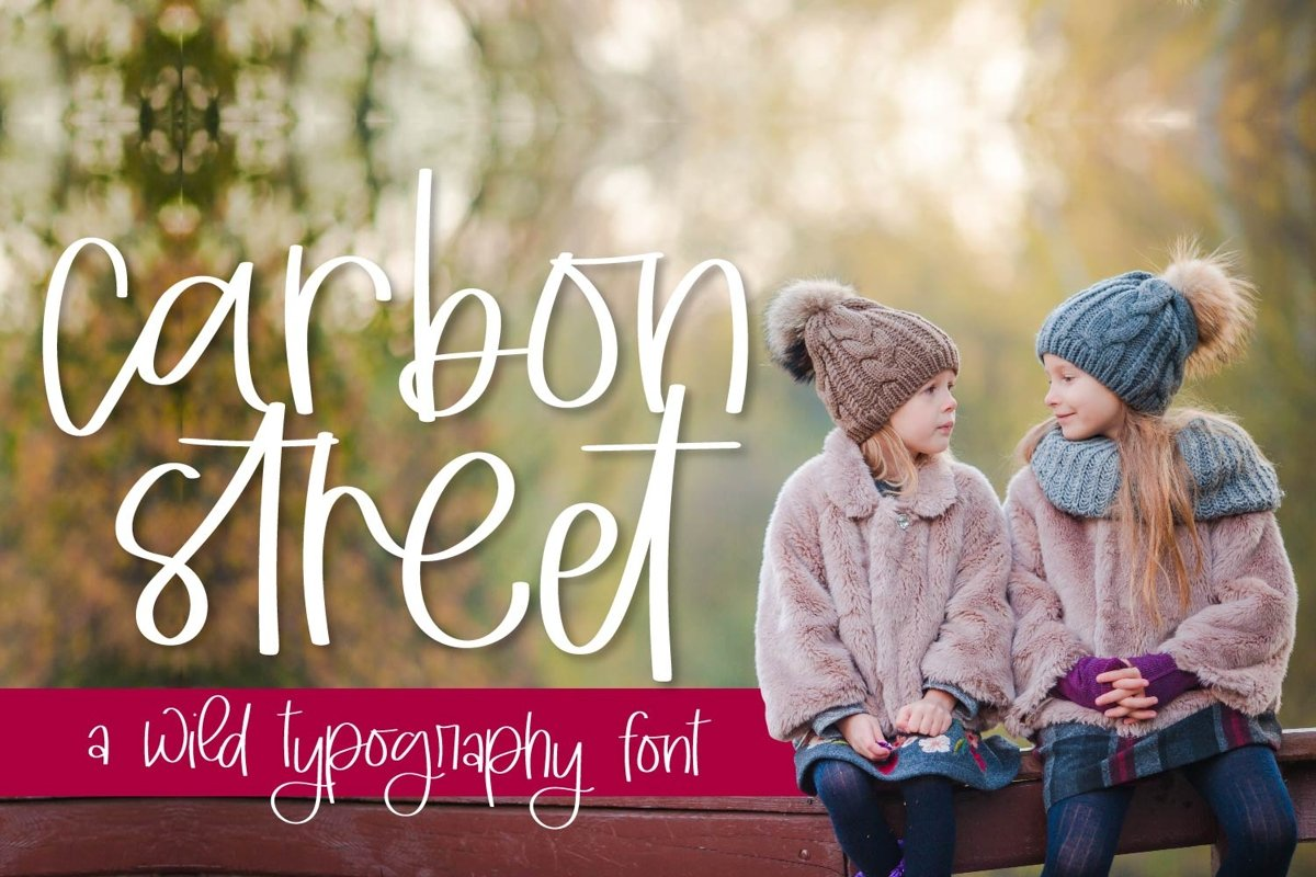 Carbon Street - A Clean Hand lettered Type example image 1