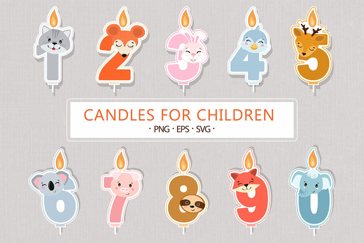 Birthday candles SVG example image 1