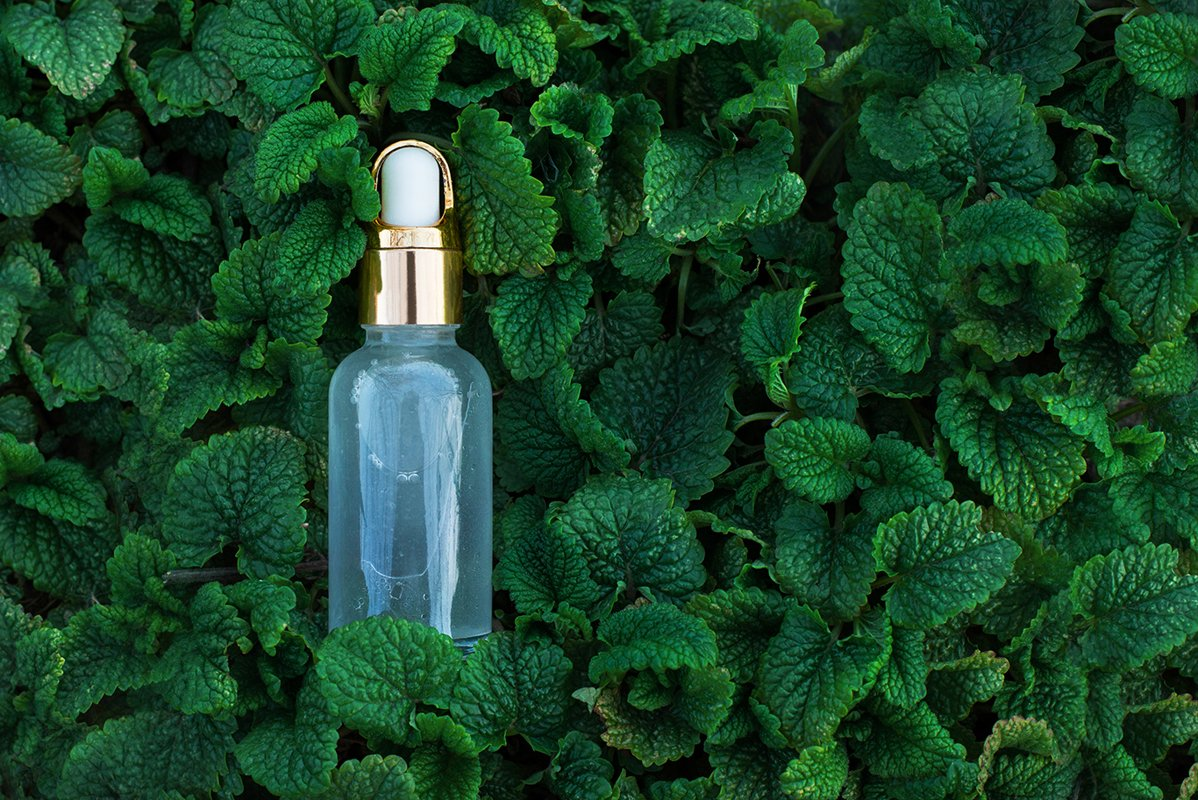 organic cosmetics bottle oil with herbal extracts example image 1