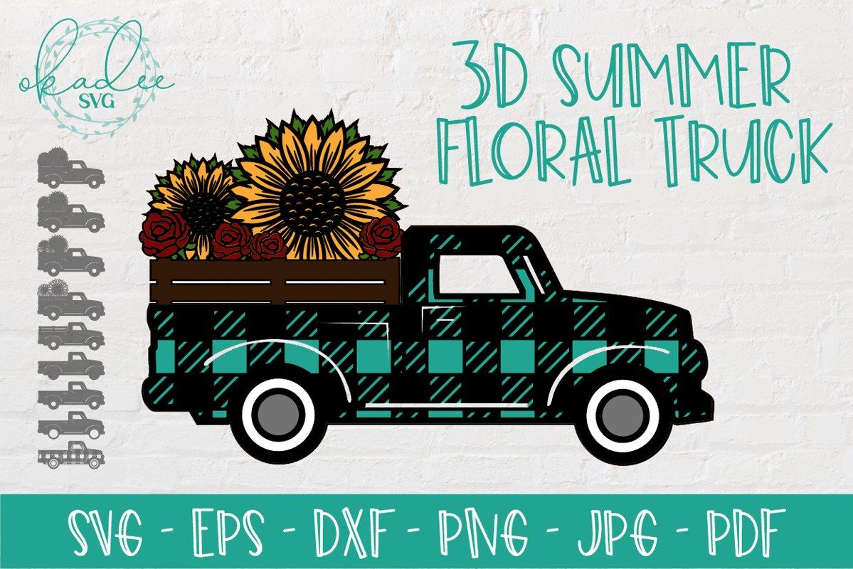 3D Antique Truck SVG, 3D Mandala SVG, Sunflower Mandala SVG example image 1