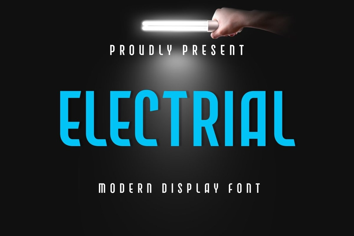 Electrial - Modern Display Font example image 1