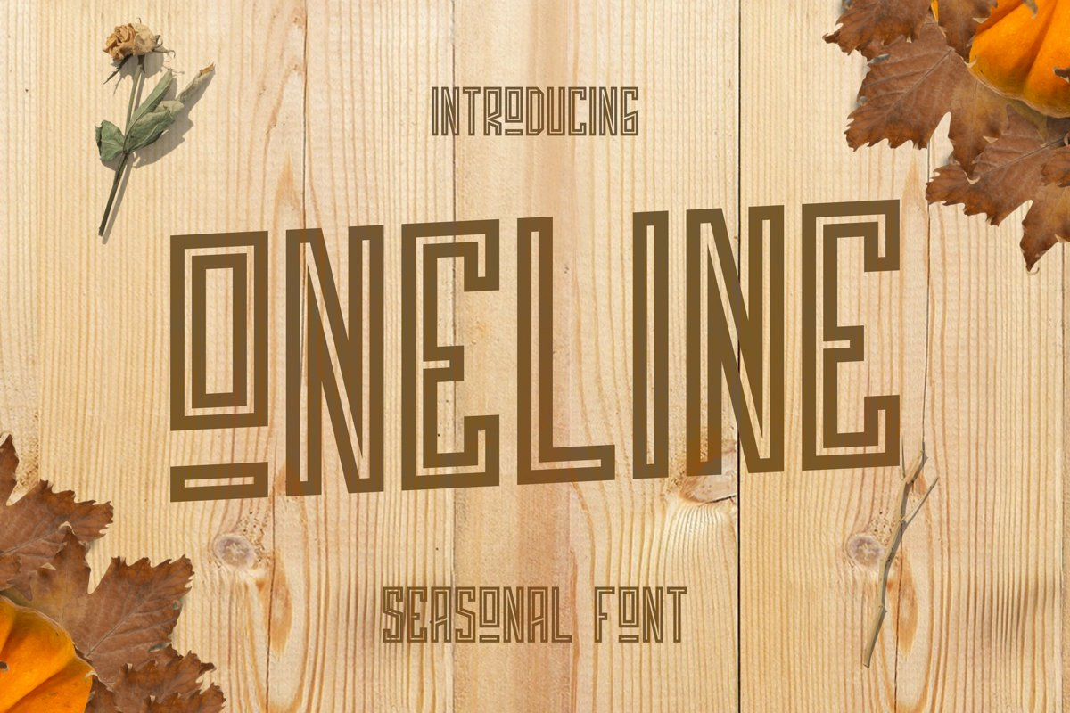 ONELINE Font example image 1