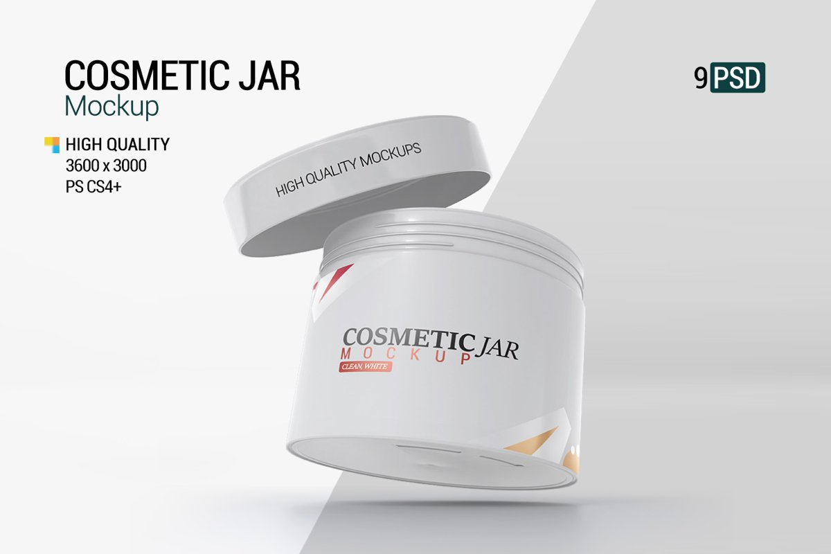 Cosmetic Jar Mockup example image 1
