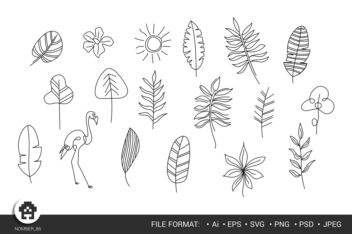 Hand drawn flowers / Floral Digital / flowers svg. example image 1