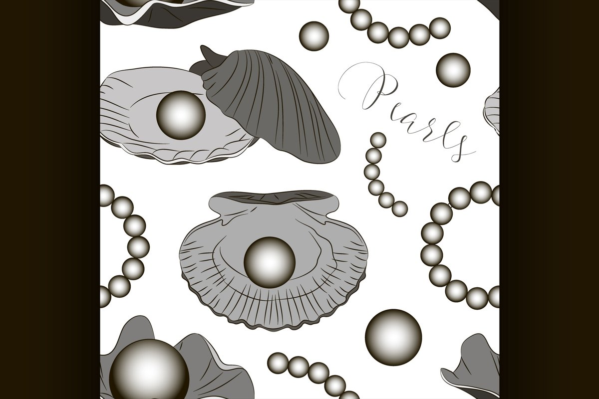 Pearls vector set pattern example image 1
