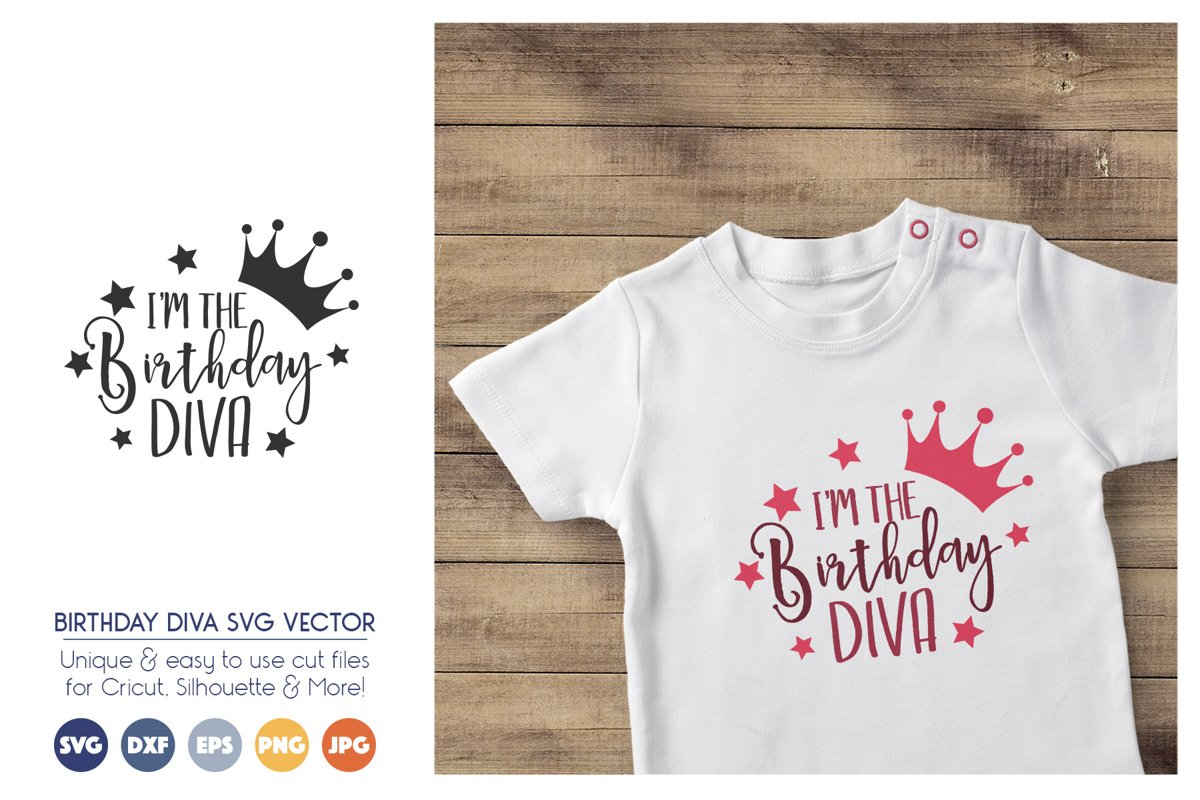 I'm the Birthday Diva SVG Cut Files - Birthday SVG File example image 1