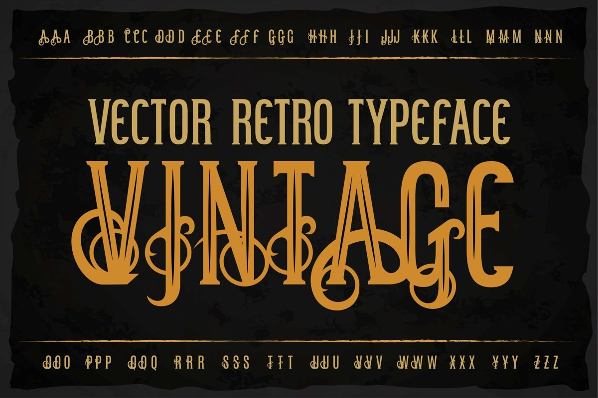 Vintage OTF label font. Uppercase only! example image 1