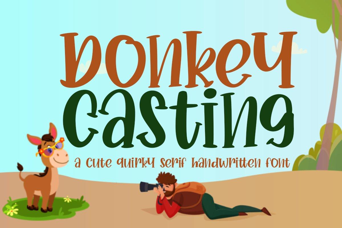 Donkey Casting Cute Serif Font example image 1
