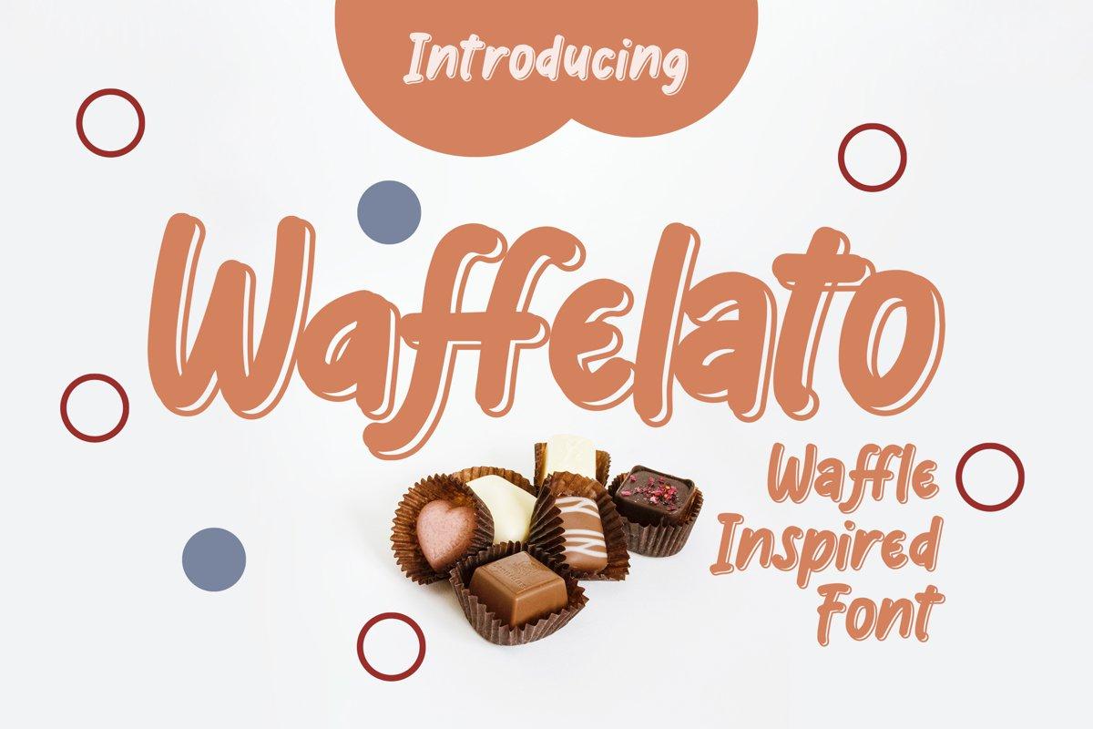 Waffelato - Inspired Font example image 1
