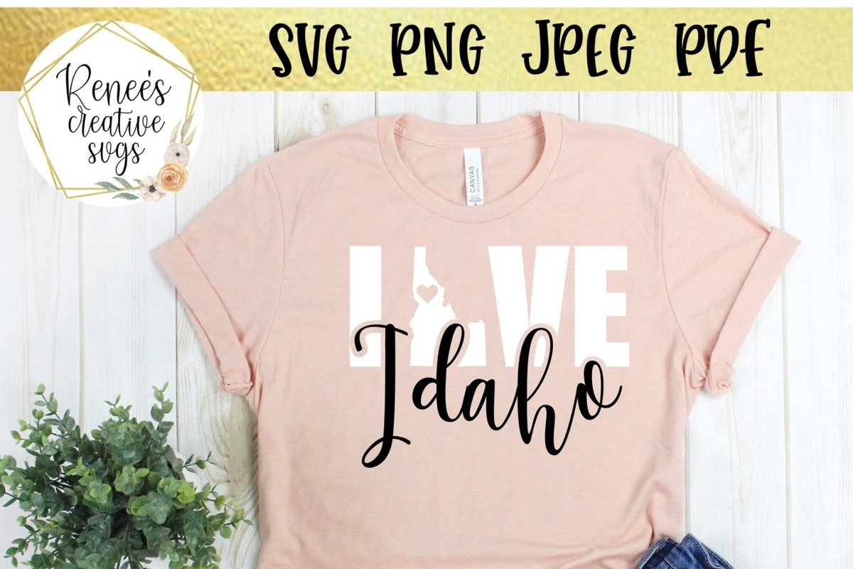 Idaho Love | State SVG | SVG Cutting File example image 1