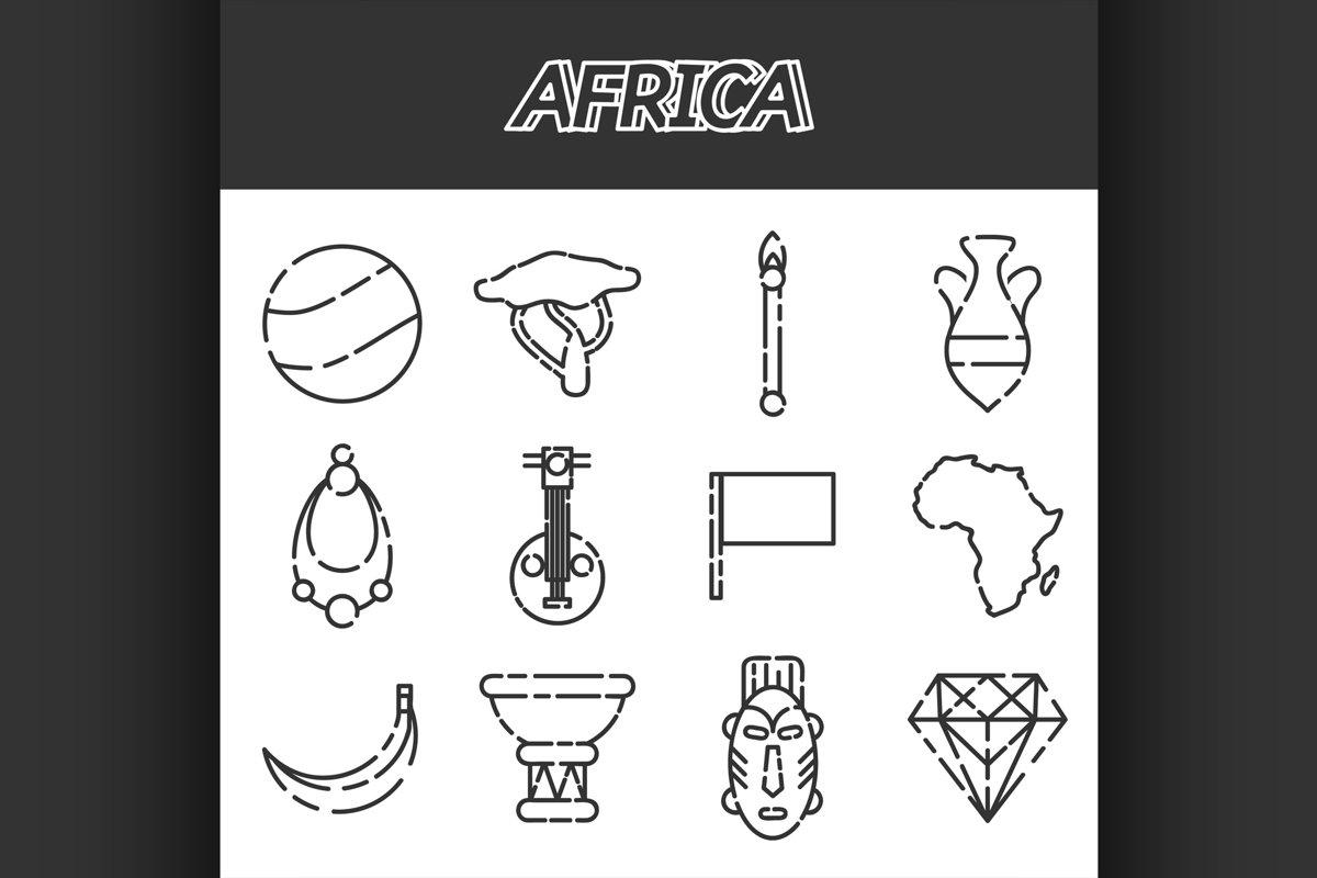 Africa icons set example image 1