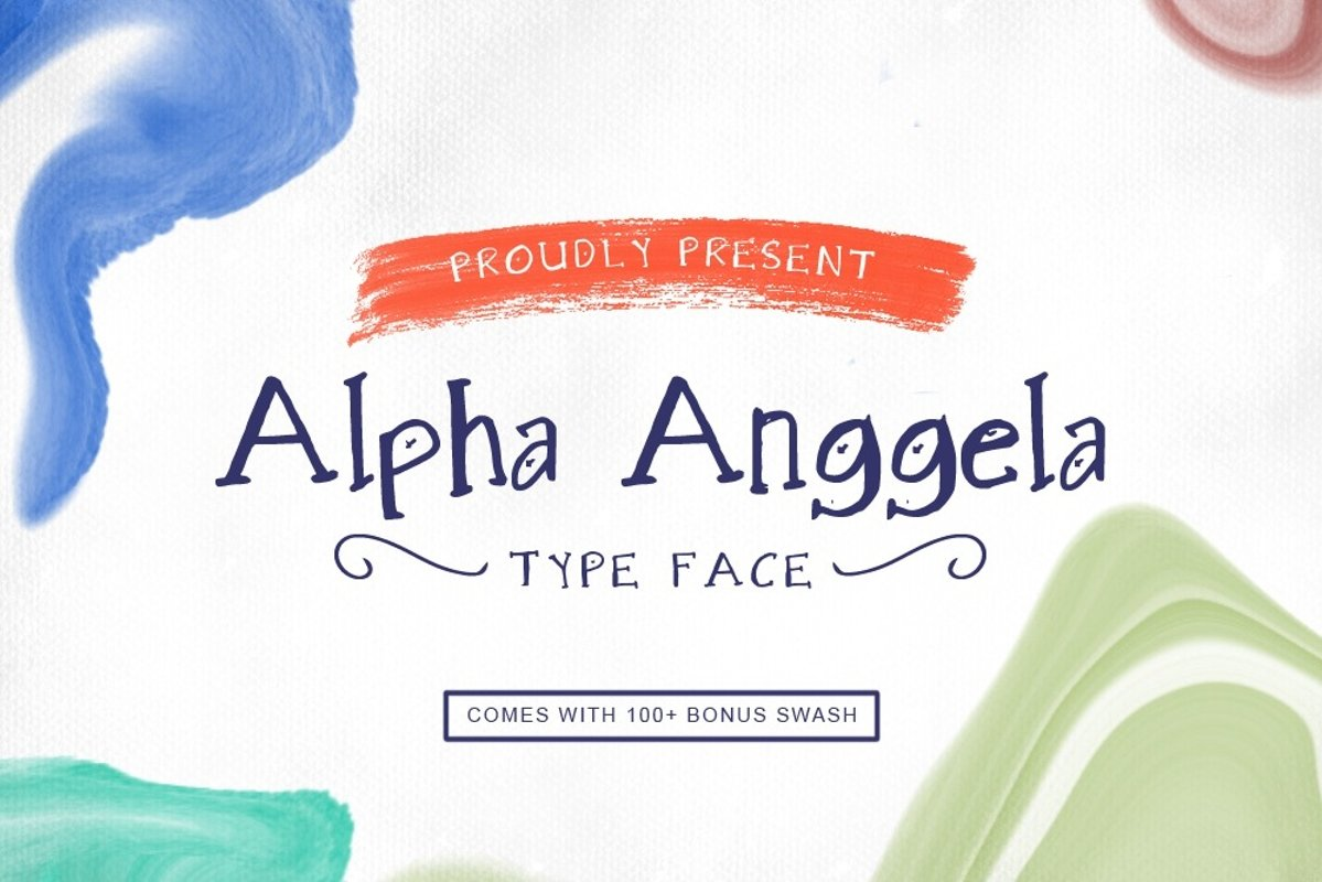 Alpha Anggela - 18 Font styles and 150 Swashes example image 1