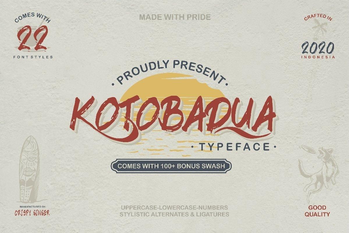 Kotoba Dua - 22 Font styles and 150 Swashes example image 1