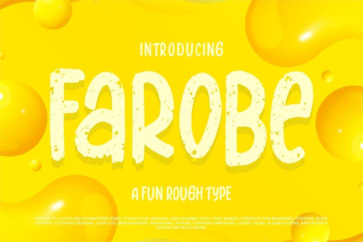 Farobe | A Fun Rough Type example image 1