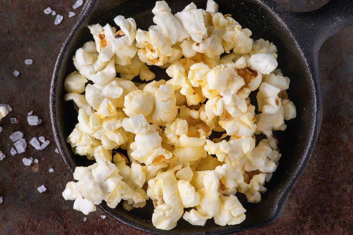 Prepared salted popcorn example image 1