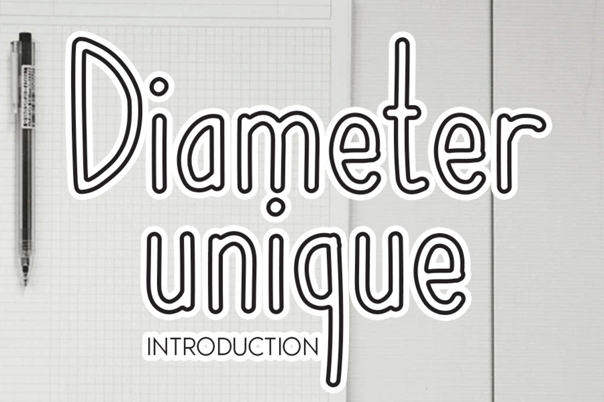 Diameter unique example image 1