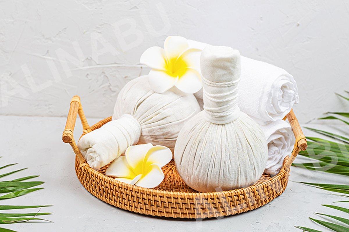 Spa massage Aromatherapy body care background example image 1