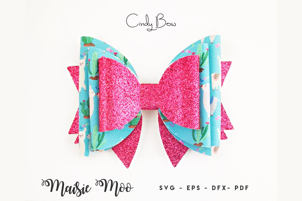 Bow SVG, Bow Template, Big Hair Bow example image 1