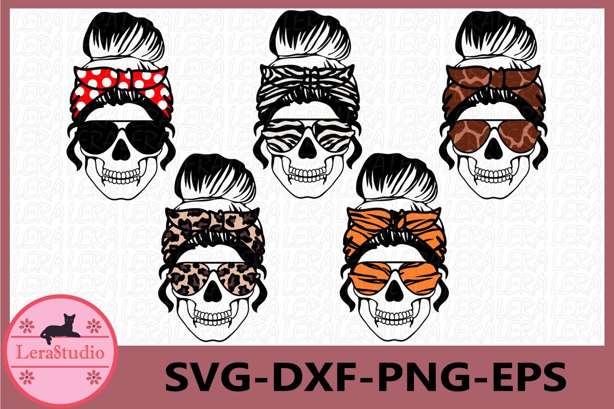 Skull with glasses svg, Mom life Skeleton svg, Skulls example image 1
