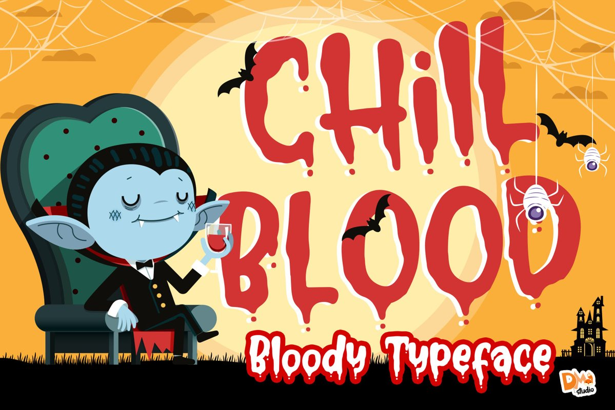 Chill Blood - Bloody Typeface example image 1