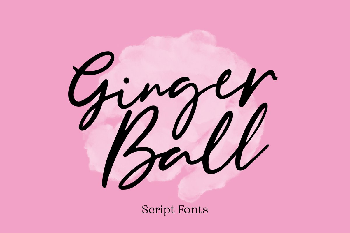 Gingerball - Script Font example image 1