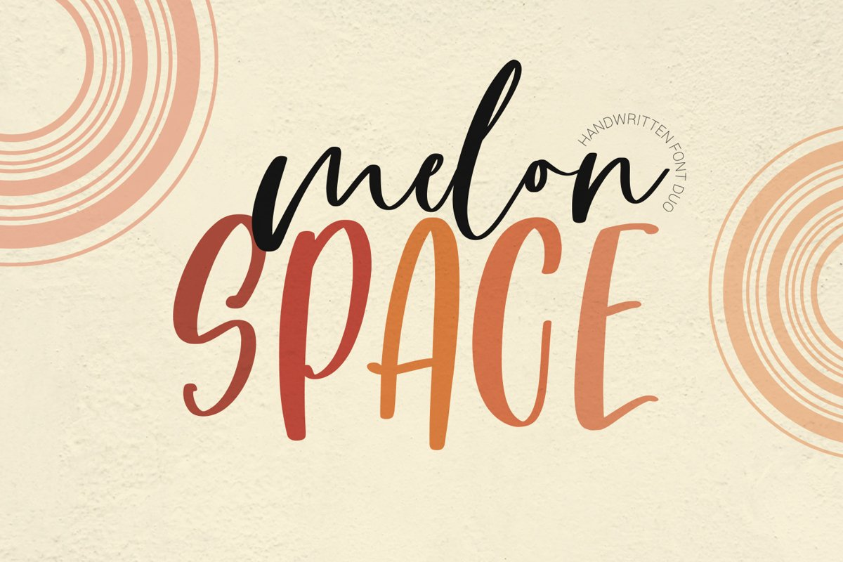 Melon Space Font Duo example image 1