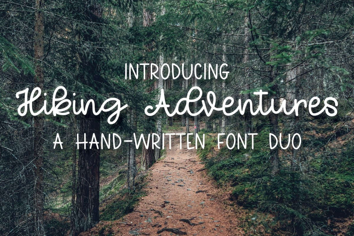 Hiking Adventures - A Hand-Written Font Duo example image 1