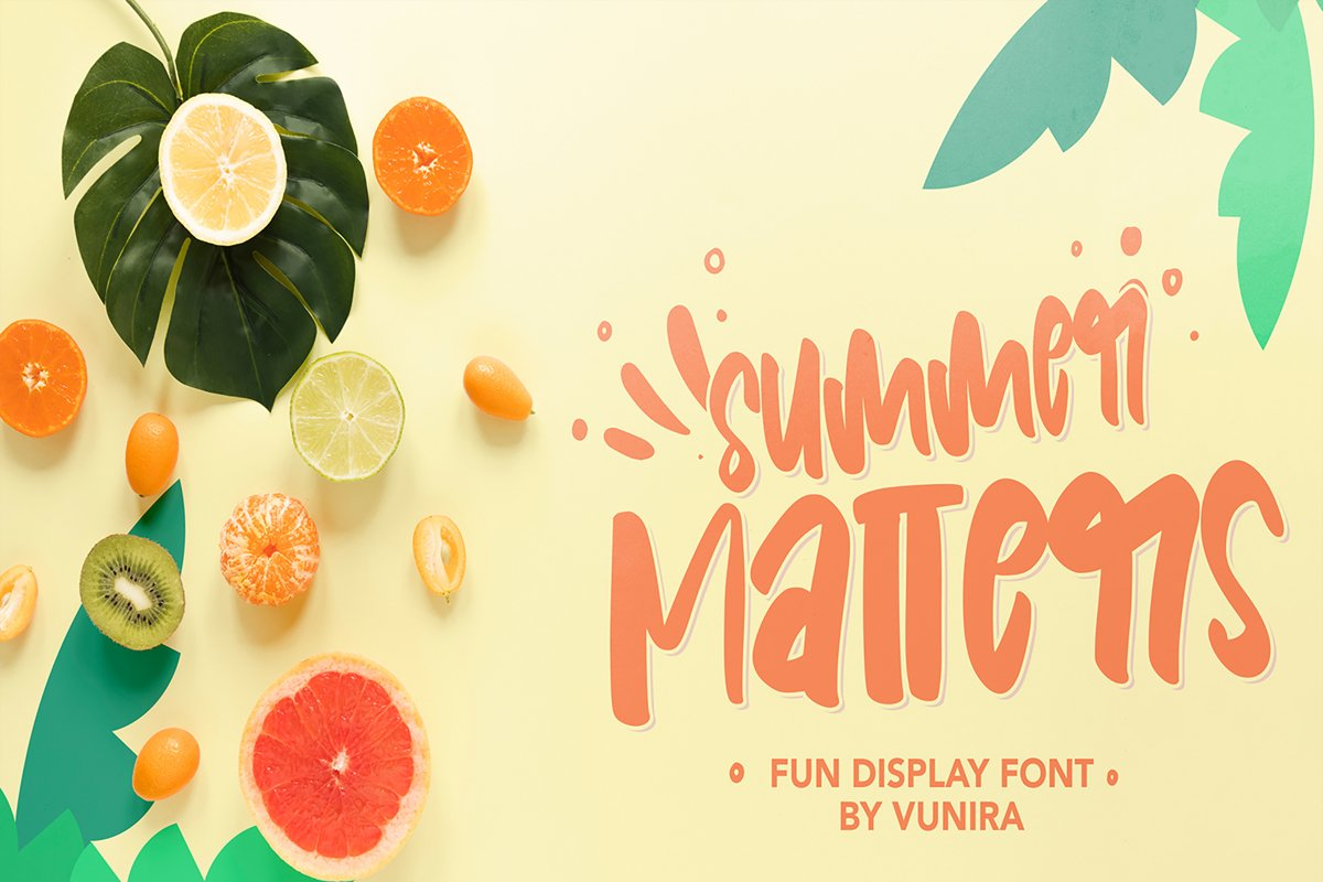 Summer Matters | Fun Display Font example image 1