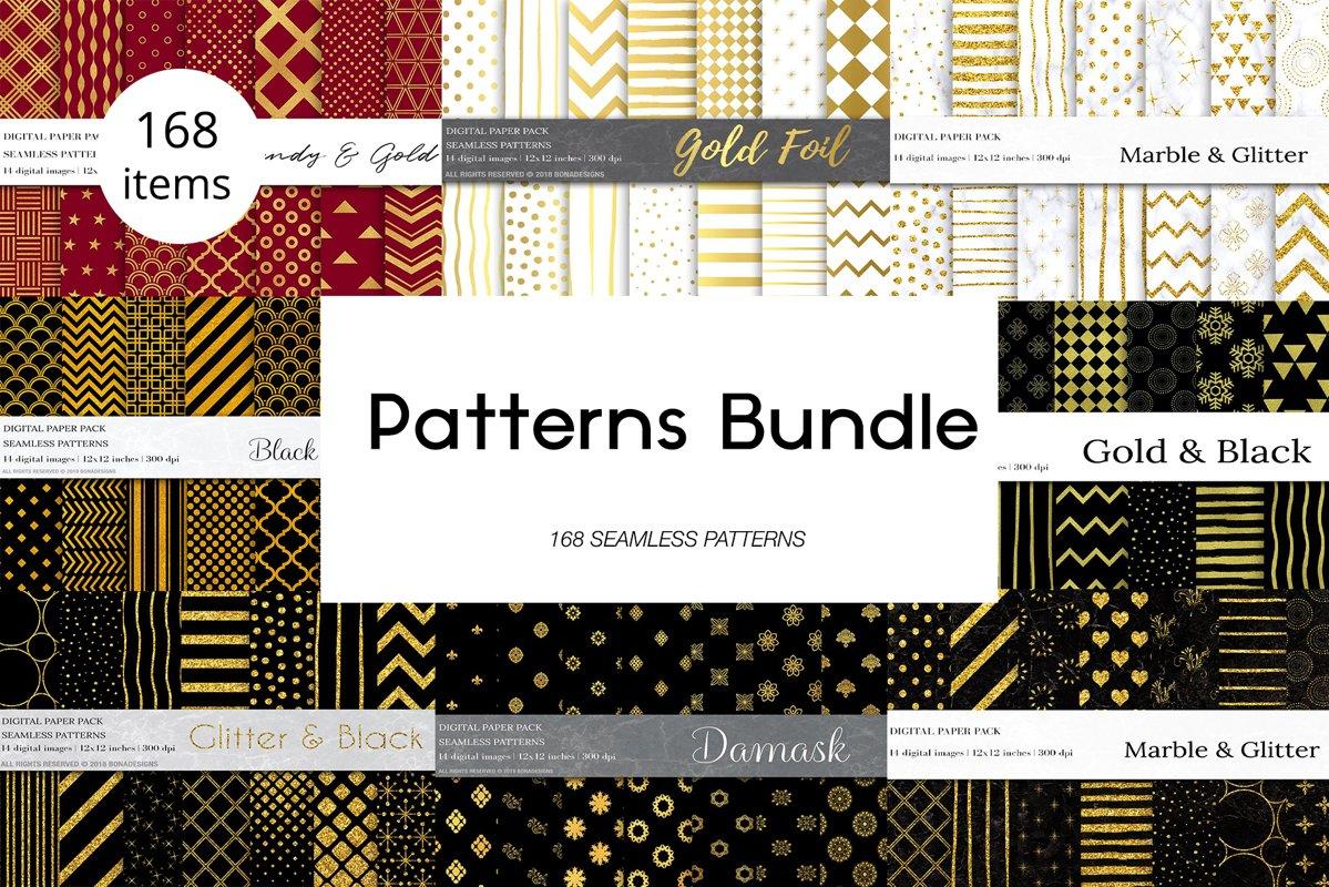 Seamless Patterns Bundle example image 1